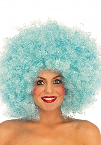 Extra große Afro Perücke in Pastellfarben von Leg Avenue Locken Fantasy Clown gelockt Löckchen Bonbon, ()