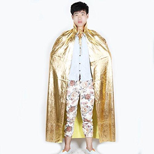 Halloween-Umhang/Kostüme/Erwachsene Bronzing länger Umhang-Golden (Ausgeburt Kostüm)