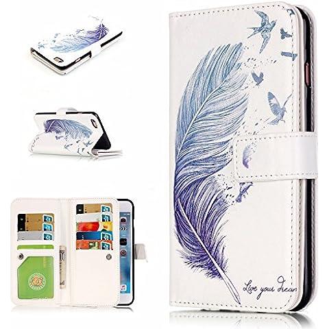 Roreikes Apple iPhone 6S Cover ,iphone 6 Custodia (4.7 Pollici), caso del modello fiore della (Bambino Basamento Di Libro)