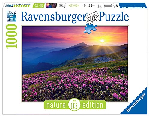 Ravensburger 19608 Puzzle Nature Edition, Bergwiese im morgenrot
