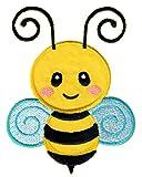 PatchMommy Biene Patch Aufnäher Applikation Bügelbild - zum Aufbügeln oder Aufnähen - für...