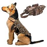 Kleider für Hunde , Legendog Hunde Tactical Weste Wasserdichte Hundetrainingsweste Mit 3 Abnehmbaren Taschen