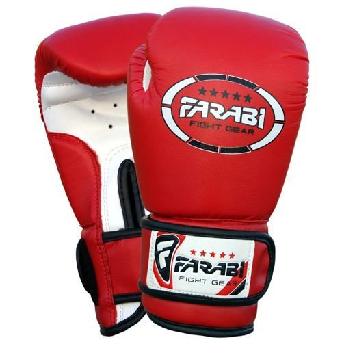 Farabi Kids Boxing Gloves Synthetic Leather for Training Punching Sparring Combat Fitness Gym Workout (Red, 4oz)
