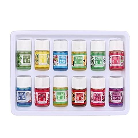 Huile Essentielles,Moonuy 12 saveur 3/Box pure aromathérapie huile essentielle de soins de la peau bain massage beauté spa soins de la peau et soins de famille