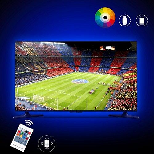 LED TV Hintergrundbeleuchtung, 2M USB LED Beleuchtung, USB für 40 bis 60 Zoll HDTV, TV-Bildschirm und PC-Monitor, LED Strip, von AGPTEK