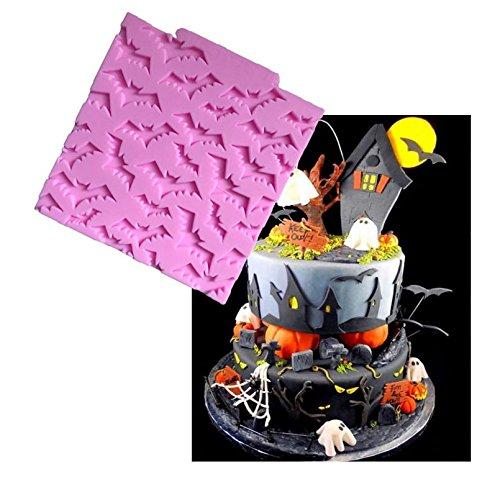Da.Wa Halloween Schläger Kuchen Border Silikon Formen Cupcake Fondant Kuchen Dekorieren Werkzeuge Süßigkeiten Lehm Schokolade Gumpaste Formen