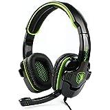 LIHAO Sades SA-708 Stereo Gaming Headset Headphone Cuffie Gaming con Microfono (Verde)