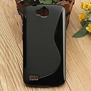 Huawei Honor Holly Magic Brand S-Line Black Soft Silicon Back Cover Case