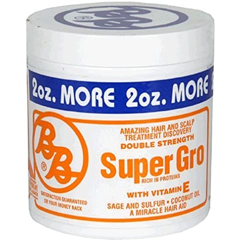 BB Super Gro with Vitamin E, Double Strength, 6-Ounce Canister (Pack of 6) by Bronner