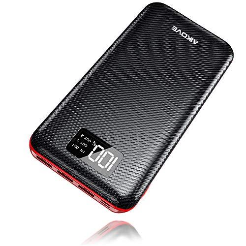 Batterie Externe 24000mAh Power Bank Aikove Chargeur Portable Deux Entrées & 3 Ports Haute Vitesse et Technologie Digi-Power pourTous les smartphones Tablette USB Via Device