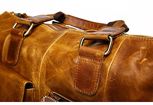 Borsa Uomo Casual Leather Borsa Messenger Messenger Borsa Retro Borsa Giallo