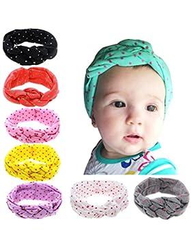 [Sponsorizzato]I fasci di bambino di 8 colori del Hillento, capelli della fascia del turbante della neonata piegano gli accessori...