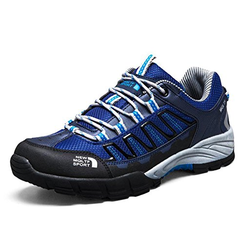 Coolgoing Männer Outdoor-Walking-Schuhe Trekkingschuhe Sneakers männlich leichte atmungsaktive Trail Running Kletterschuhe männlich , Blue , 43