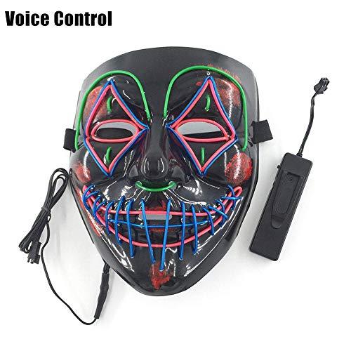 Beste Scary Clown Masken - Halloween Maske LED Maske Ghost Dance