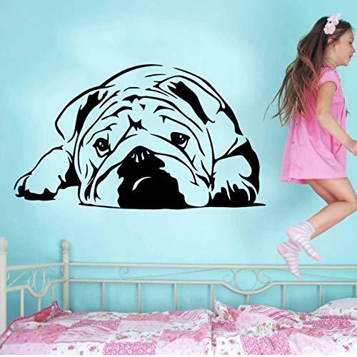 Czxmp Neueste Schöne Englische Bulldogge Vinyl Wandaufkleber Grün Tier Aufkleber Aufkleber Wohnkultur Wandbild Kunst 40 * 68 Cm (Neueste Englische Filme)
