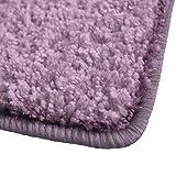 Shaggy Teppich Barcelona | weicher Hochflor Teppich für Wohnzimmer, Schlafzimmer und Kinderzimmer | mit GUT-Siegel und Blauer Engel | verschiedene Größen | viele moderne Farben | 160x230 cm | Flieder