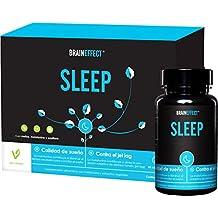 BRAINEFFECT SLEEP | Melatonina con pasíflora y melisa | Ayuda natural para dormir | Sin sales