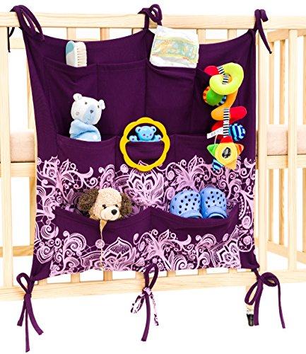 Tieni la stanza del bebè in ordine con il portaoggetti Babypeta - il portaoggetti per la stanza del bebè da appendere per giocattoli, pannolini, ciucci & altri oggetti, si adatta a culla & fasciatoio