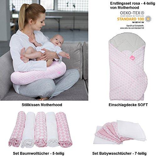 erstlings Motherhood/bébé cadeau de naissance, certifié Öko-Tex Standard - comprenant : Coussin d'allaitement/Nid + Nid d'ange Soft + Kit serviettes en coton (5 pièces) + wachtücher (7 pièces)