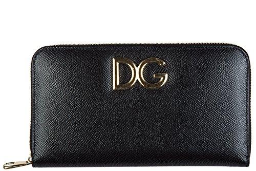 Dolce&Gabbana Damen Geldbörse Portemonnaie Echtleder Geldbeutel Bifold dauphine (Gabbana Dolce Damen-geldbörsen &)