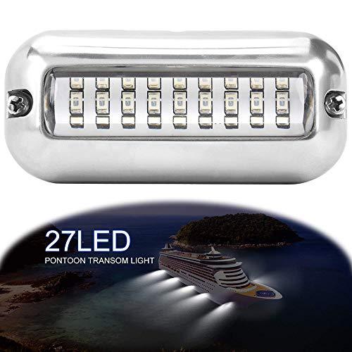 Led Arbeitslicht Bar, Konesky Navigation Boat Lights 50 Watt Flutlampe Unterwasserfischen Strahl Licht für Auto Lkw Boot SUV Yacht Skeeter (white)