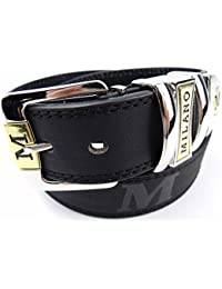 "Men's Belt With Gift Box : Black : 1.5"" Wide : Made with Leather & Man Made Material"