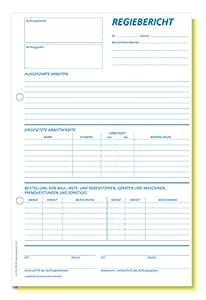 Omega Druck Regiebericht SD, A4 hoch, Papierfolge, 2 x 50 Blatt ...