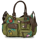 Desigual BOLS PINDAY LONDON MEDIUM kaki Schultertasche