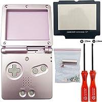 iMinker Full Housing Shell paquete de piezas de repuesto de la cubierta del caso con herramientas abiertas para Nintendo Gameboy Advance SP, GBA SP (Rosado)