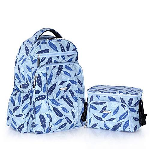 LFGCL Beutel womenMulti-Function Mutterbeutel mit großer Kapazität wasserdichte Schulter Mamabeutel Mutter- und Kinderarbeitspaket, blau - Coach Große Hobo