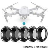 Neewer Multi beschichtete 5er Filter Set für DJI Mavic Pro Drone Quadcopter: UV CPL ND4 ND8 ND16 Filter, aus Ultra Hochauflösendes Glas und Aluminium Gewinde Rahmen