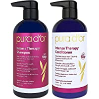 PURA DOR Intense Hair Repair Therapy 2-Piece System for Damaged, Distressed