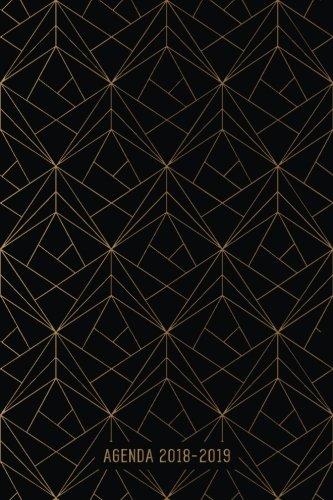 Agenda 2018-2019: Agenda Scolaire de Juillet 2018 à Août 2019, Semainier simple & graphique, motif géométrique noir et or par YesOuiPages