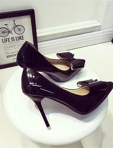 WSS 2016 Chaussures Femme-Soirée & Evénement-Noir / Rose / Rouge-Talon Aiguille-Talons-Talons-Polyester black-us7.5 / eu38 / uk5.5 / cn38