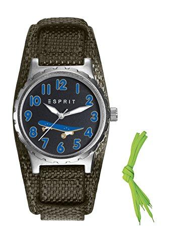 Esprit Jungen-Armbanduhr TP90653 Green Analog Quarz Nylon ES906534001
