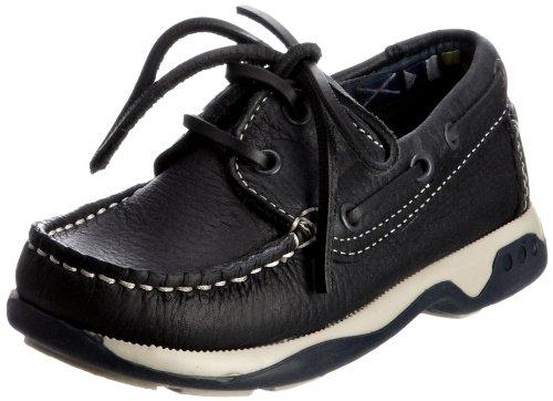 Chatham Skipper Unisex Child Boat Shoes, Navy, 2 UK (34 EU)