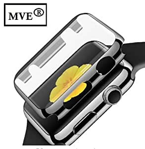 MVE® ™ Apple watch series 1, 2 & 3 case, iwatch 1 , 2 & 3 Case TPU All-around 0.3mm Ultra-thin Hard High Full Cover for New Apple Watch Series 1 / 2 / 3 (42mm) BLACK