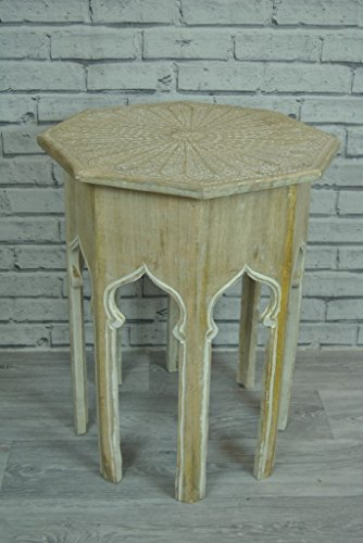 Four Seasons Liverpool Side Table Etched Light Wood And White Octagon Shaped Shaped Morroccan Buy Online In Aruba At Aruba Desertcart Com Productid 64691320