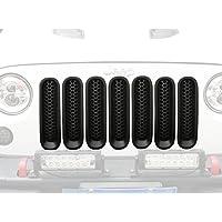 i-shop schwarz matt Front Mesh Gitter, 7 Stück