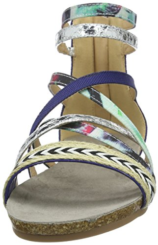 La Strada Blue Coloured Sandal, Sandales ouvertes femme Bleu - Blau (4220 - woven blue)