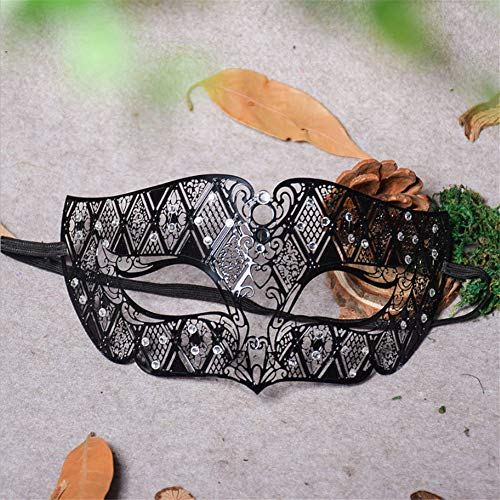 Halloween Venedig Metall Diamant Tanz Kleid Hälfte Gesicht Schmiedeeisen COS Spaß Venedig Maske Spaß Augenmaske