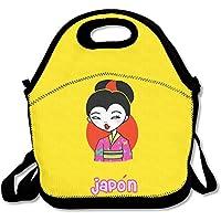 Preisvergleich für Japanische Geisha Cartoon cutelunch Tasche für Frauen Lunch Bag Lunch Box Food Bag pouple Isolierte Lunch Box für Frauen Modische