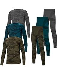 TACTICAL Hommes Dous-Vêtement Fonctionnel Thermoactifs Couche De Base Perméable à L'air SET Pêche Militaire Moro