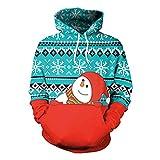YWLINK Damen Sweatshirt Unisex Strickpullover Rudolph Pullover Weihnachts Drucken(M, Rot)
