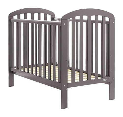 Obaby Lily Cot (Taupe Grey) Obaby Suitable from birth Three position mattress base height Protective teething rails 1