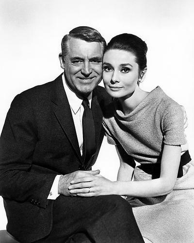Nostalgia Store Cary Grant Audrey Hepburn Charade Werbefotogramm, klassisch, 25,4 x 20,3 cm