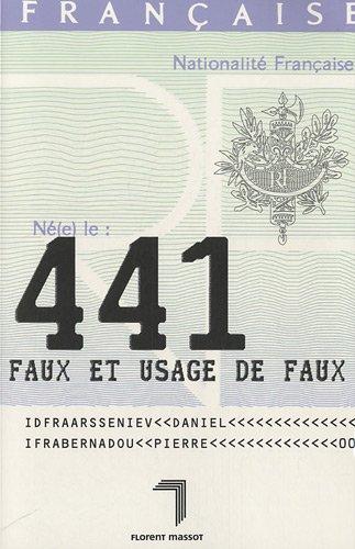 441 faux et usage de faux