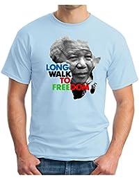OM3 - MANDELA - FREEDOM - T-Shirt NELSON MADIBA APARTHEID AFRIKA PEACE EMO, S - 5XL