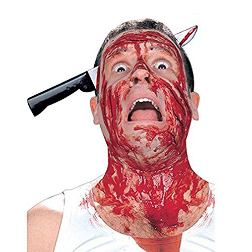 JoyFan Horror Headband Props Through Head Bloody Prank Hair Penetrating Trick Props for Costume Party Masquerade Zombie Cosplay