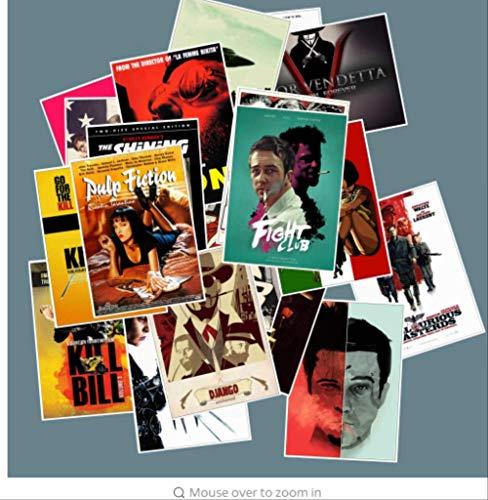 Kunst Bill (YLGG 25 Classic Movie Aufkleber Gepäck Laptop Kunst Malerei Kill Bill Pulp Novel Poster Aufkleber wasserdicht Skateboard Spielzeug)
